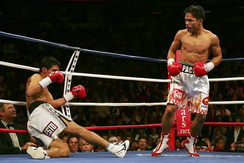 this is the day when Pacquiao avenged his defeat from Erik Morales