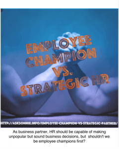 Employee Champion vs. Strategic Partner