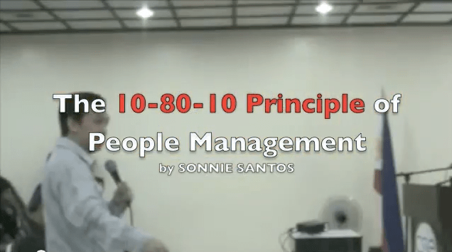 "The ""10-80-10"" Principle of People Management"