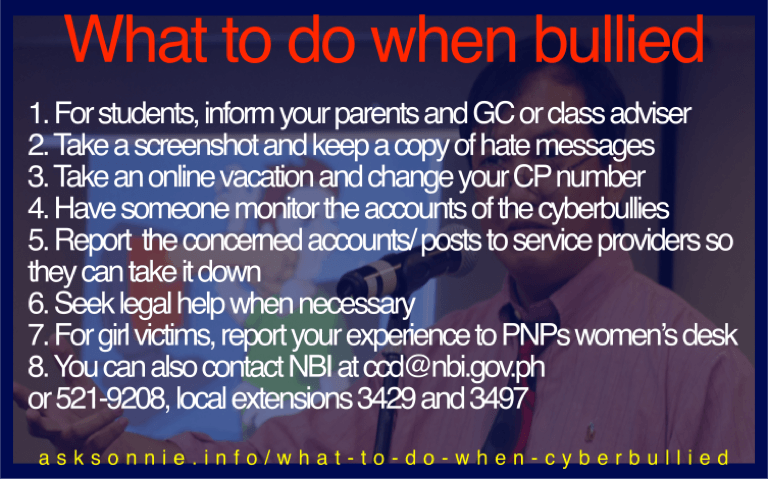 Here's what you can do when you experienced cyberbullying