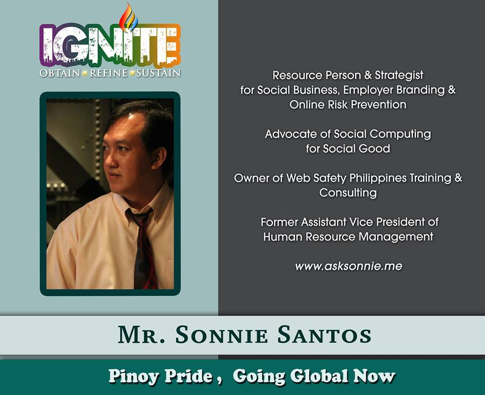 Sonnie Santos- Sought After Speaker