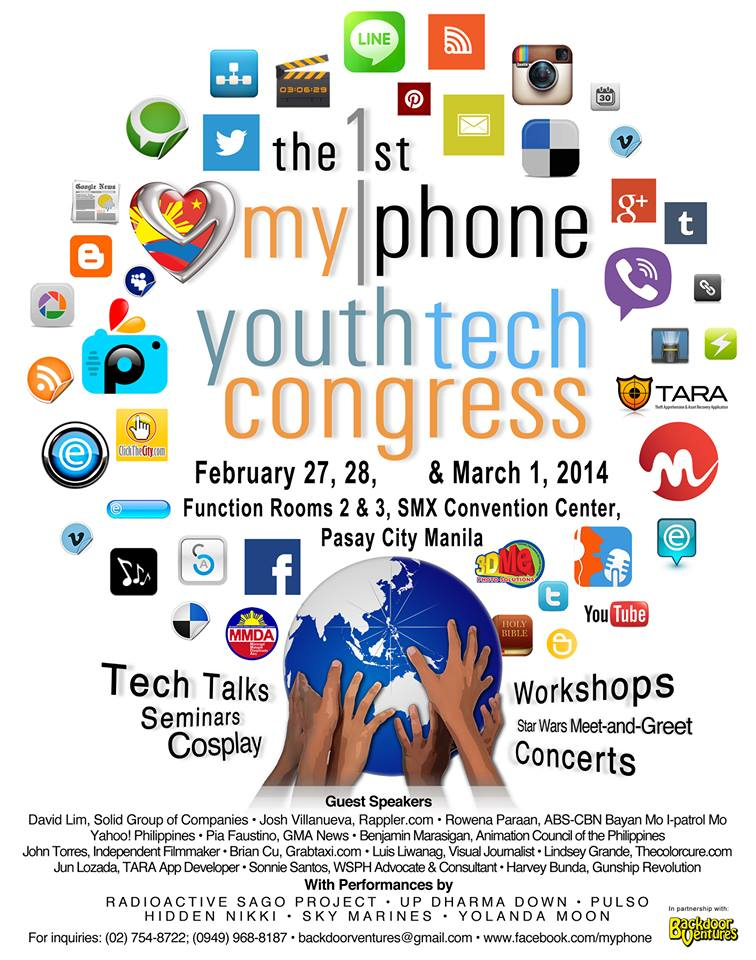Sonnie Santos speaks at MyPhone Youth Tech Congress