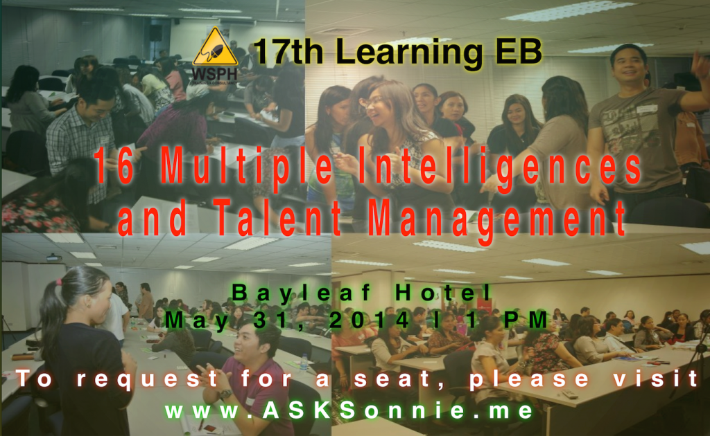 17th Learning EB: 16th Multiple Intelligences and Talent Management