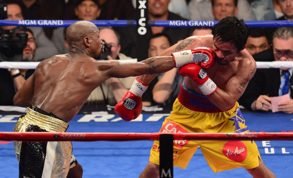 knock out punch by mayweather