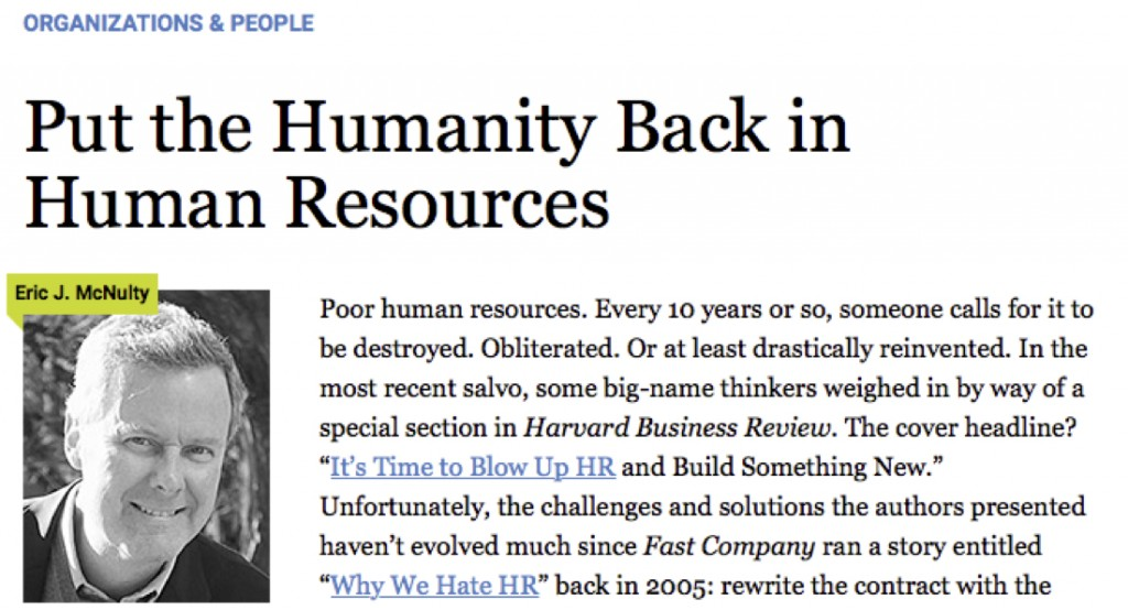Bring Humanity back to HR