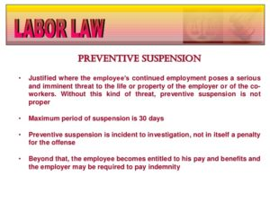Preventive Suspension, Definition and How to Go About It