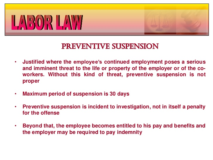 Preventive Suspension Definition and How to Go About It
