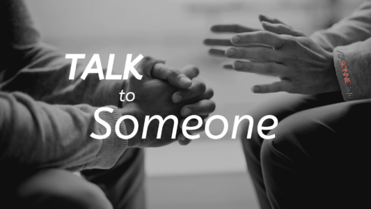 Image is about talking with someone