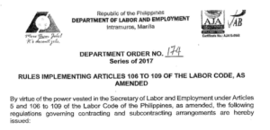 Copy of DOLE Department Order 174
