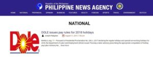 Unsolicited Advice to PH News Agency (PNA)