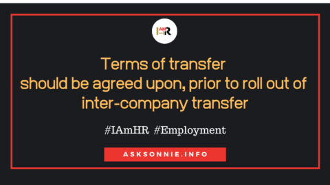 Company Under New Management or Inter-Company Transfer In Conglomerate