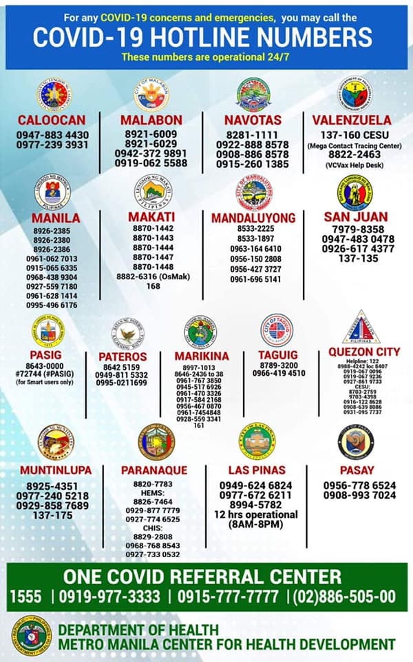 List of phone numbers to call